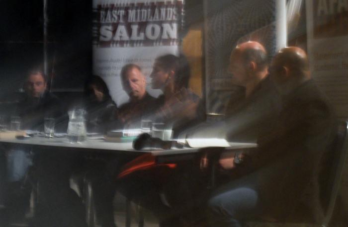 Jasvinder speaking at the Salon